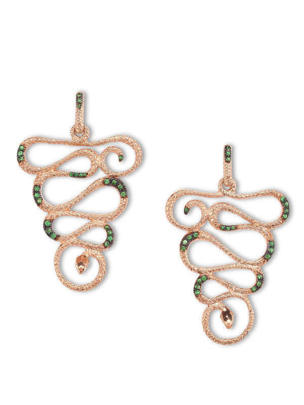 De Maria: earrings - Silver snake earrings