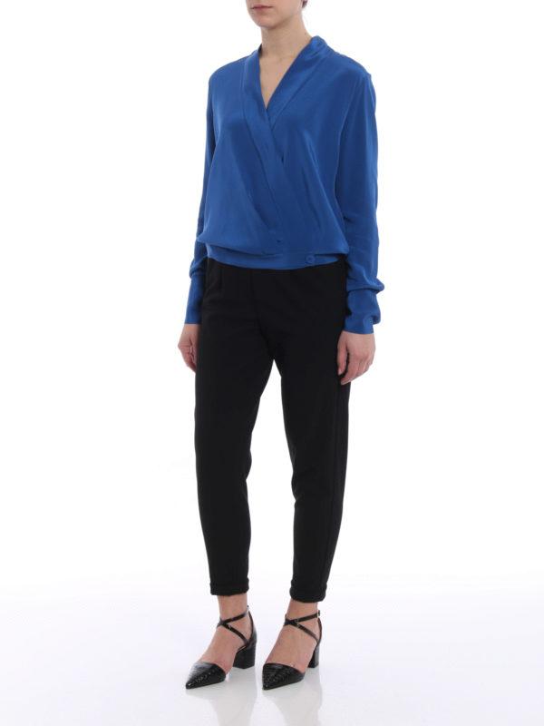 88cd53272d83db Diane von Furstenberg  blouses online - Lightweight silk crossover blouse