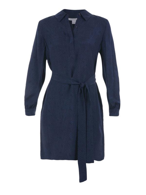 Seanna long sleeve silk shirt dress by diane von for Long sleeve silk shirt dress