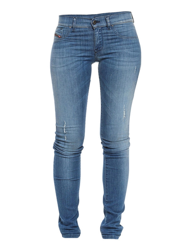 Diesel: Skinny Jeans - Skinny Jeans Fur Damen - Denim