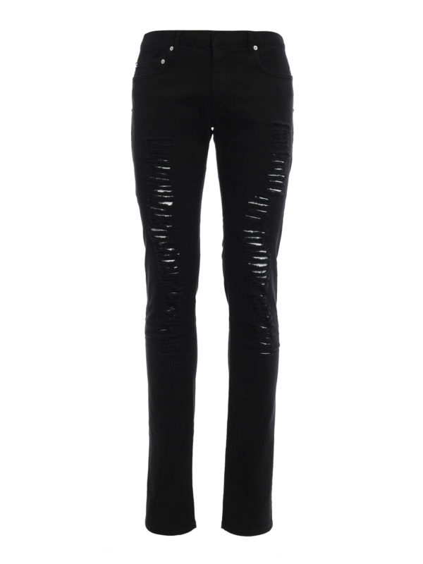 Dior: Skinny Jeans - Skinny Jeans - Einfarbig