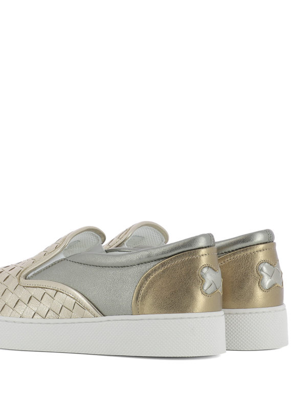 Sneaker - Gold shop online: BOTTEGA VENETA