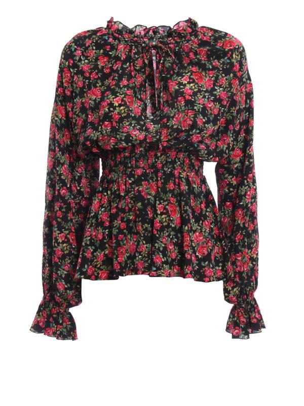 Dolce & Gabbana: Blusen - Bluse - Bunt