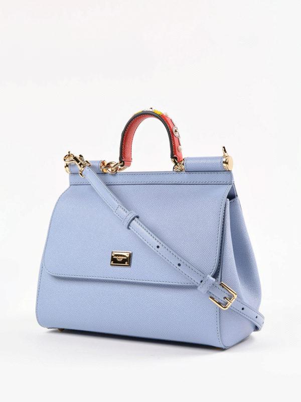 Dolce & Gabbana: Bowling online - Bowling Tasche - Hellblau