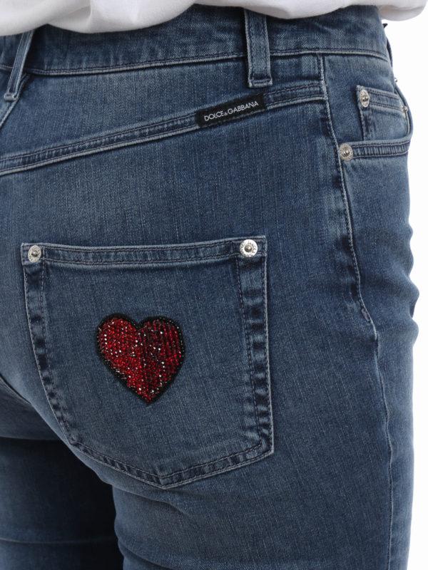 DOLCE & GABBANA buy online Schlagjeans - Jeansblau