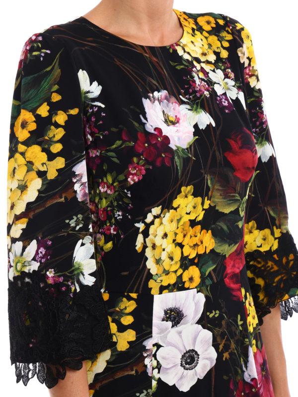 Dolce & Gabbana buy online Lace detailed floral silk dress