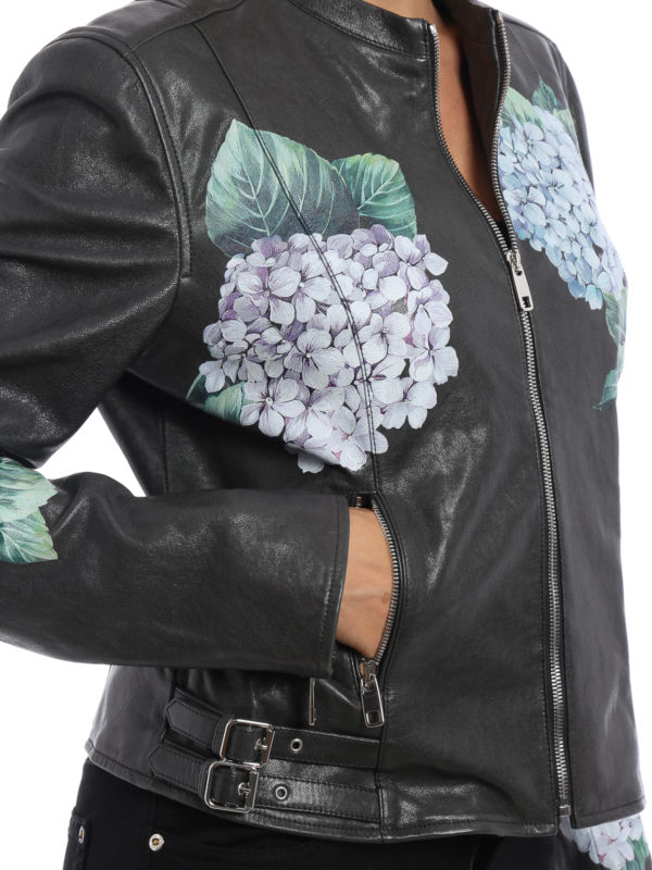 Dolce & Gabbana buy online Lederjacke - Dunkelgrau