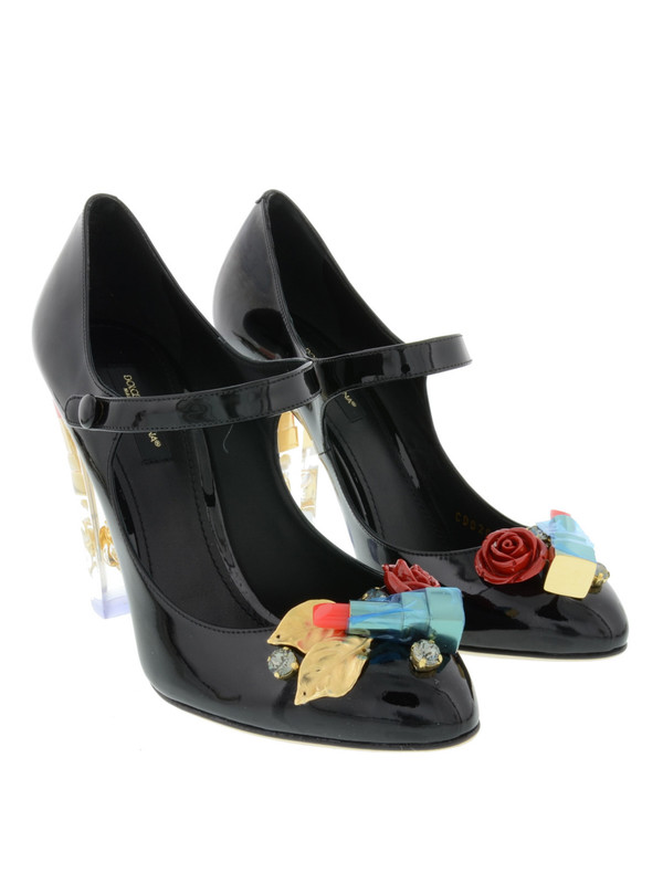 Dolce & Gabbana: court shoes - Lipstick patent leather pumps