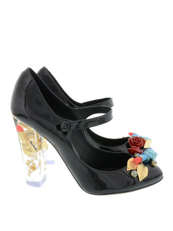 Dolce & Gabbana: court shoes online - Lipstick patent leather pumps