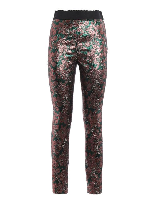 Dolce & Gabbana: Leggings - Formale Hose - Gemustert