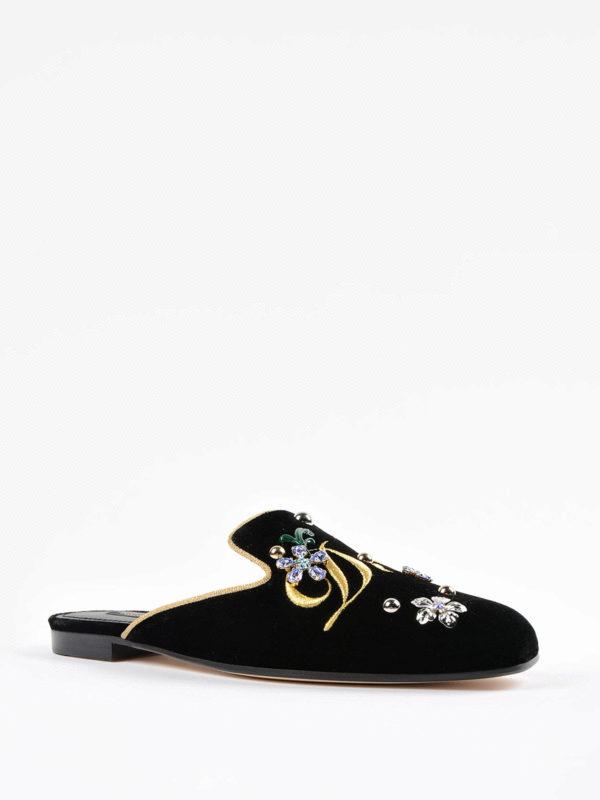 Dolce & Gabbana: Mokassins und Slippers online - Slippers - Schwarz