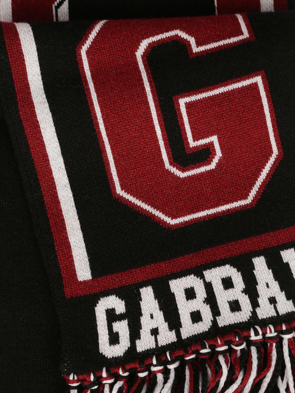 DOLCE & GABBANA: scarves online - Cashmere football club style scarf