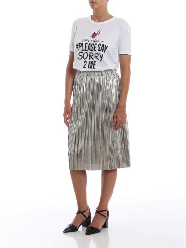 DOLCE & GABBANA: T-shirts online - T-Shirt - Weiß