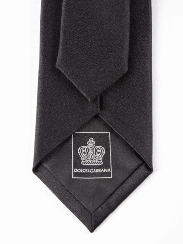 DOLCE & GABBANA: Krawatten und Fliegen online - Krawatte - Einfarbig
