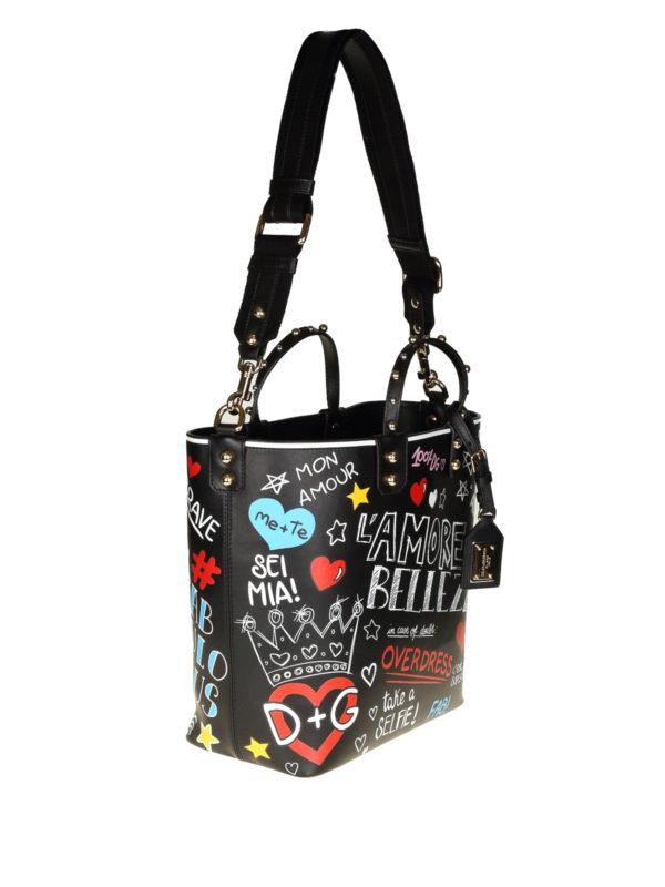 DOLCE & GABBANA: Handtaschen online - Shopper - Schwarz