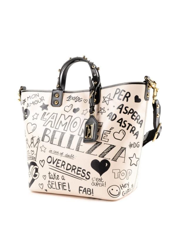 DOLCE & GABBANA: Handtaschen online - Shopper - Weiß