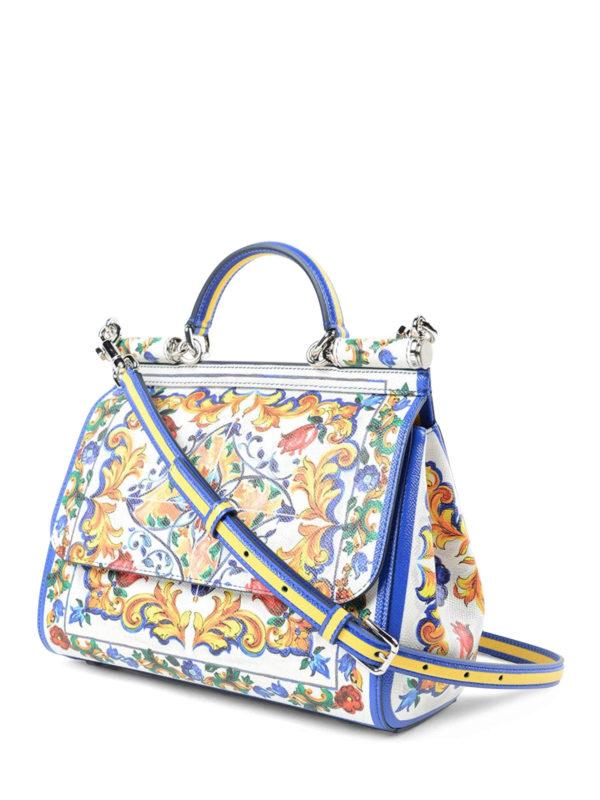 Dolce & Gabbana Majolica print Sicily tote totes bags