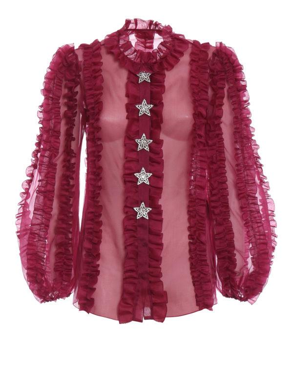 DOLCE & GABBANA: Hemden - Hemd - Bordeaux
