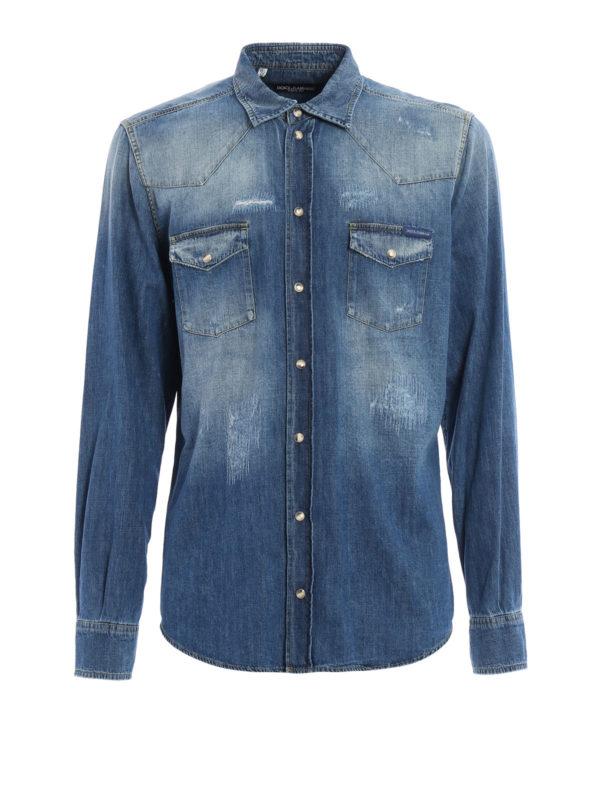 Dolce & Gabbana: Hemden - Hemd - Einfarbig