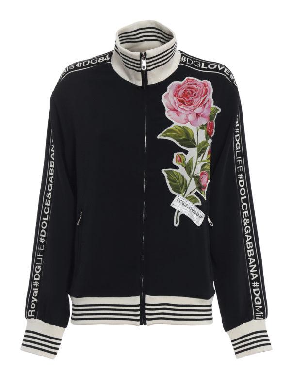 DOLCE & GABBANA: Sweatshirts und Pullover - Sweatshirt - Schwarz