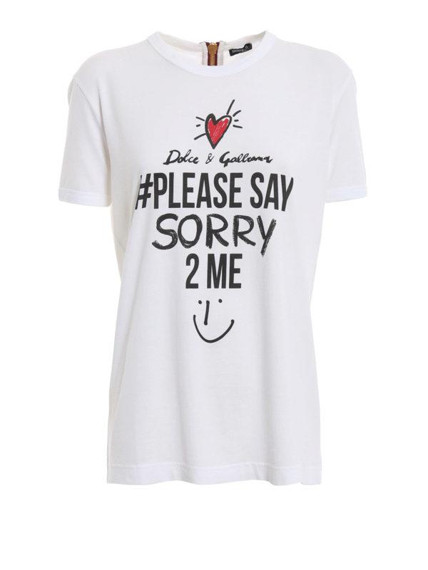 DOLCE & GABBANA: T-shirts - T-Shirt - Weiß