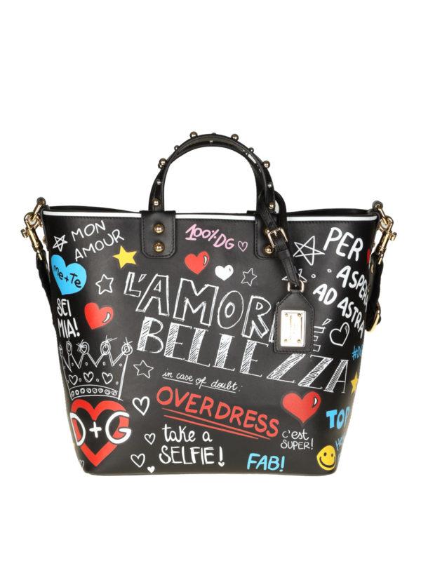 DOLCE & GABBANA: Handtaschen - Shopper - Schwarz