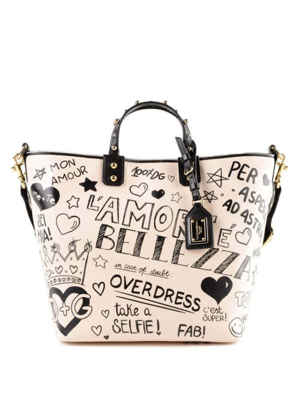 DOLCE & GABBANA: Handtaschen - Shopper - Weiß