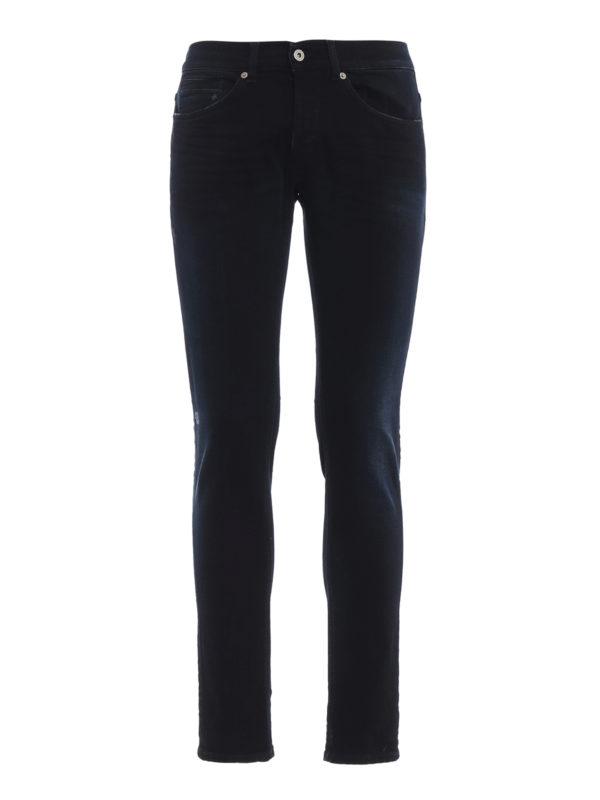 DONDUP: Straight Leg Jeans - George - Dunkles Jeansblau