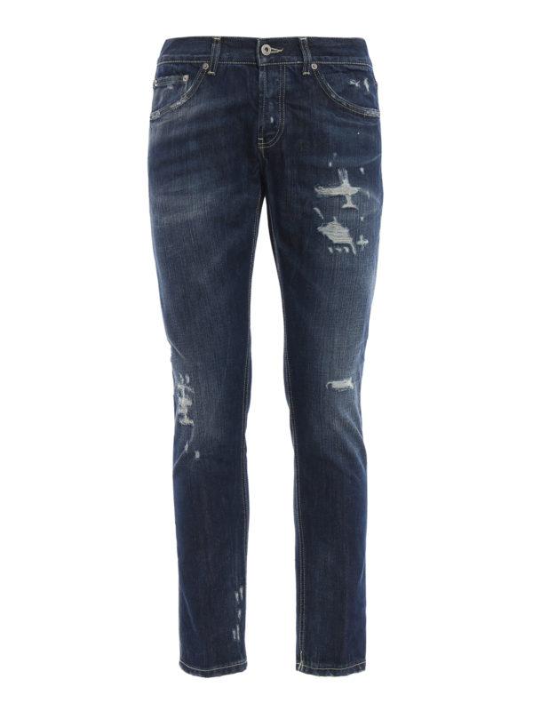 DONDUP: Straight Leg Jeans - Mius - Dunkles Jeansblau