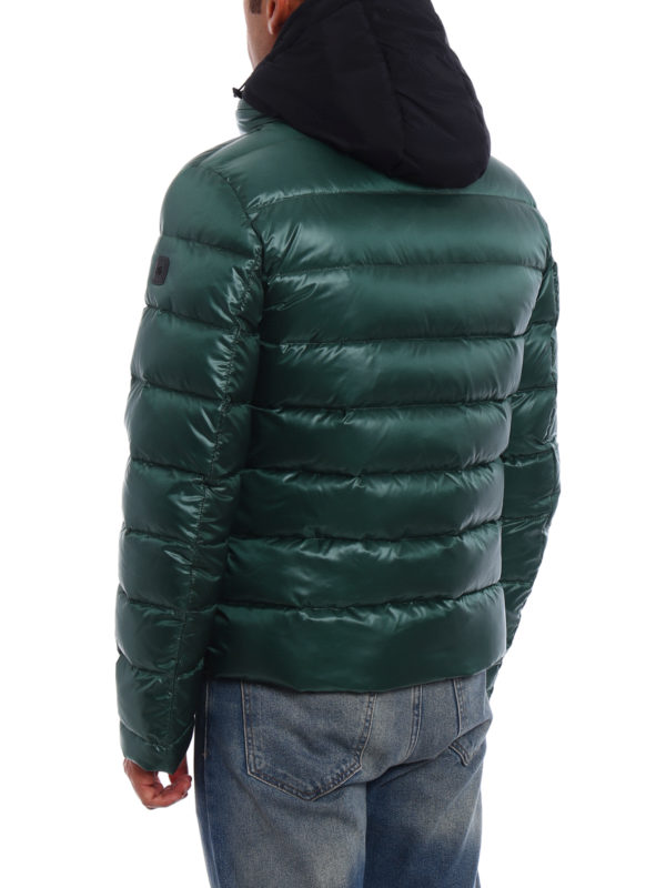 Double-front hooded puffer jacket shop online: Fay