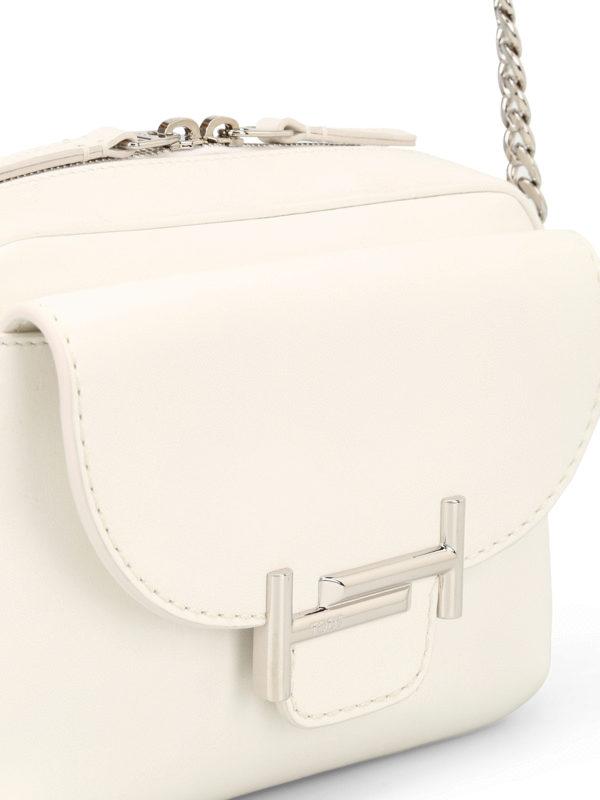 Double T white mini camera bag shop online: TOD