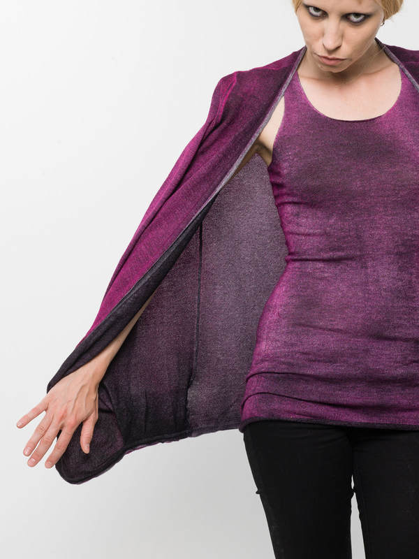 Draped cardigan shop online: AVANT-TOI
