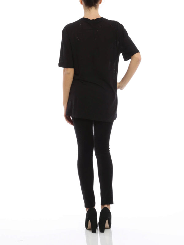 T shirt mit l cher von givenchy t shirts ikrix for Givenchy outlet online