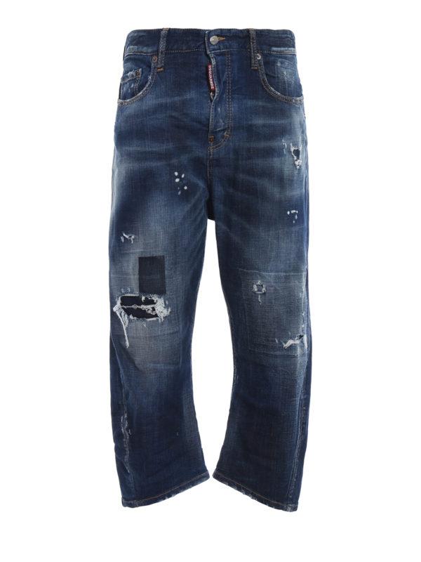 DSQUARED2: Boyfriend - Boyfriend Jeans - Jeansblau