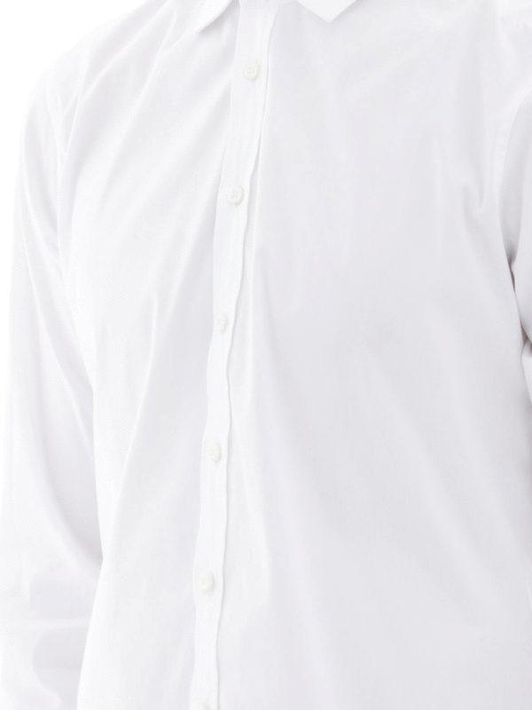 Dsquared2 - Camicia bianca in cotone stretch - camicie ... 42c0e44852dd