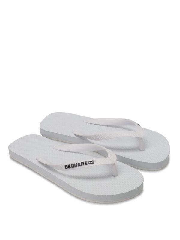 Dsquared2: Zehentrenner online - Rubber flip flops