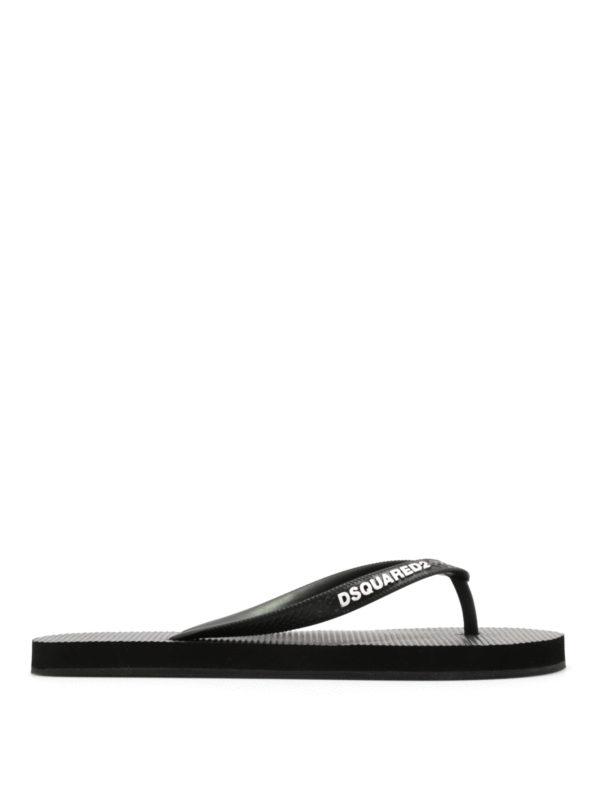DSQUARED2: flip flops - Rubber flip flops