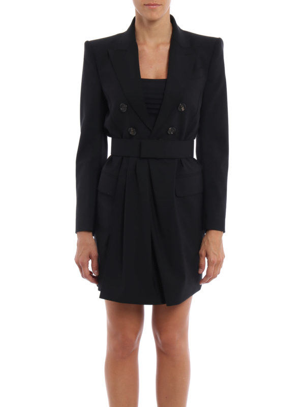 Dsquared2: Knielange Kleider online - Knielanges Kleid - Einfarbig