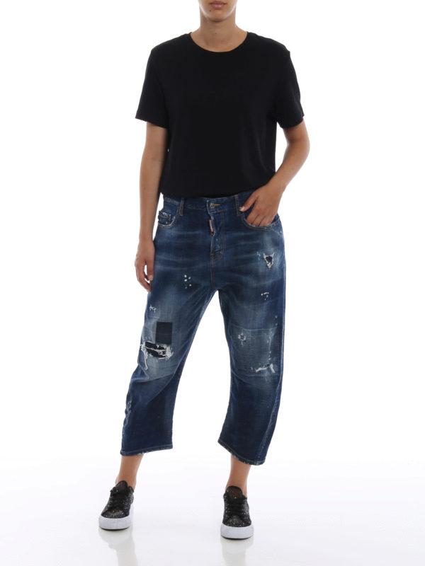 DSQUARED2: Boyfriend online - Boyfriend Jeans - Jeansblau