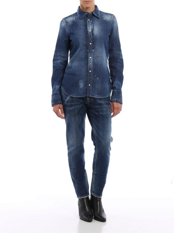 DSQUARED2: Hemden online - Hemd - Light Wash