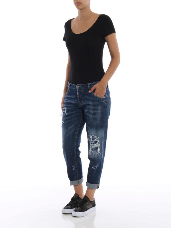 DSQUARED2: Skinny Jeans online - Skinny Jeans - Dunkles Jeansblau