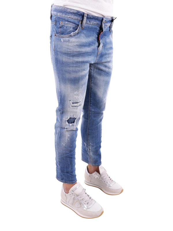 DSQUARED2: Straight Leg Jeans online - Cool Girl Cropped