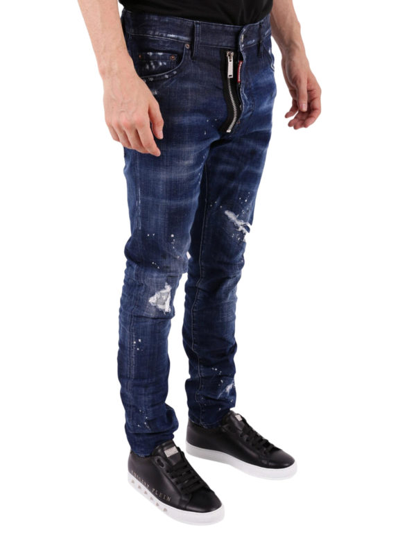 DSQUARED2: Straight Leg Jeans online - Cool Guy - Dunkles Jeansblau