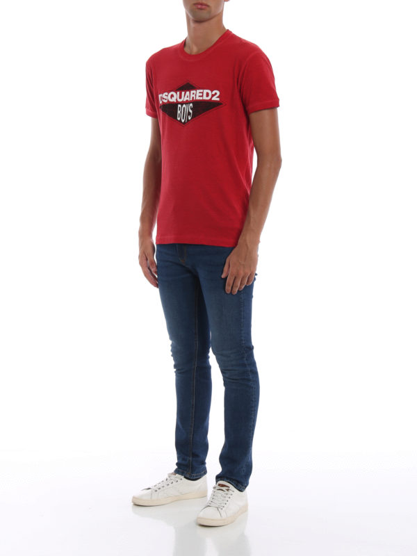DSQUARED2: T-shirts online - T-Shirt - Rot