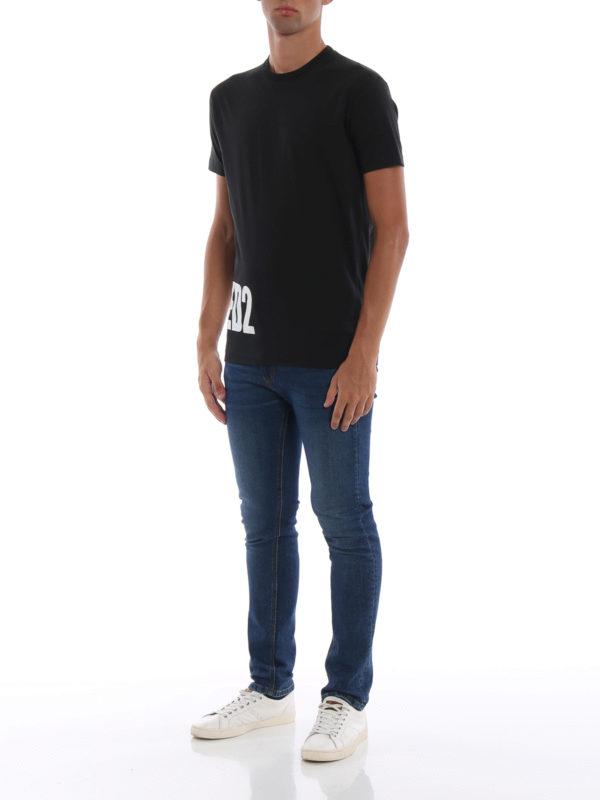 DSQUARED2: T-shirts online - T-Shirt - Schwarz