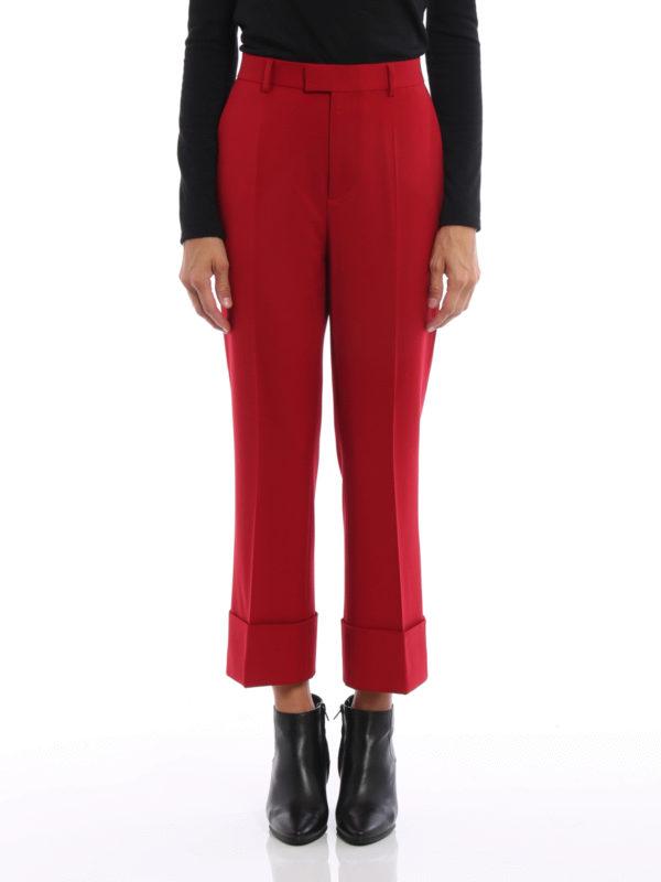 DSQUARED2: Maßgeschneiderte und Formale Hosen online - Formale Hose - Rot