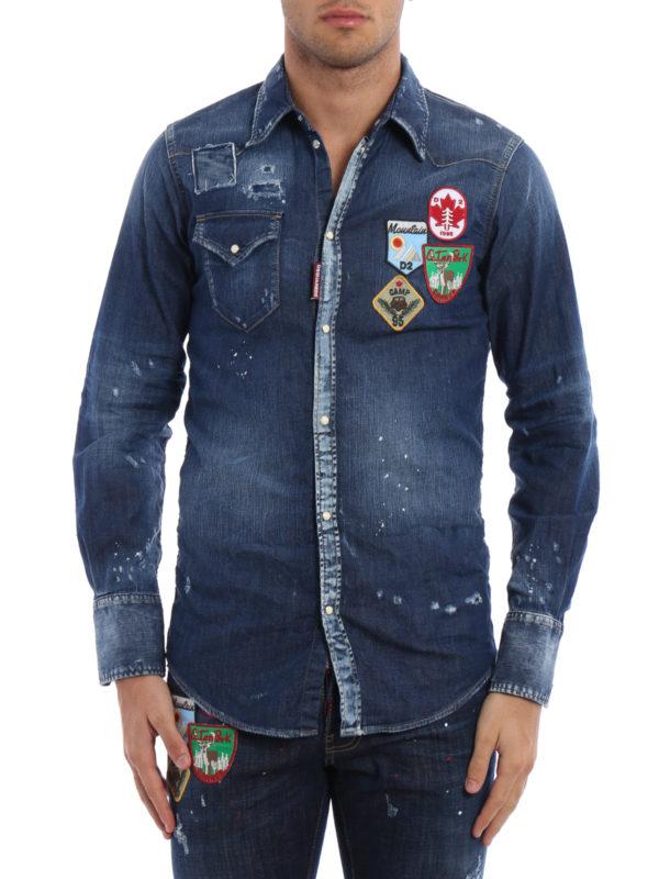 Dsquared2: Hemden online - Hemd - Dark Wash