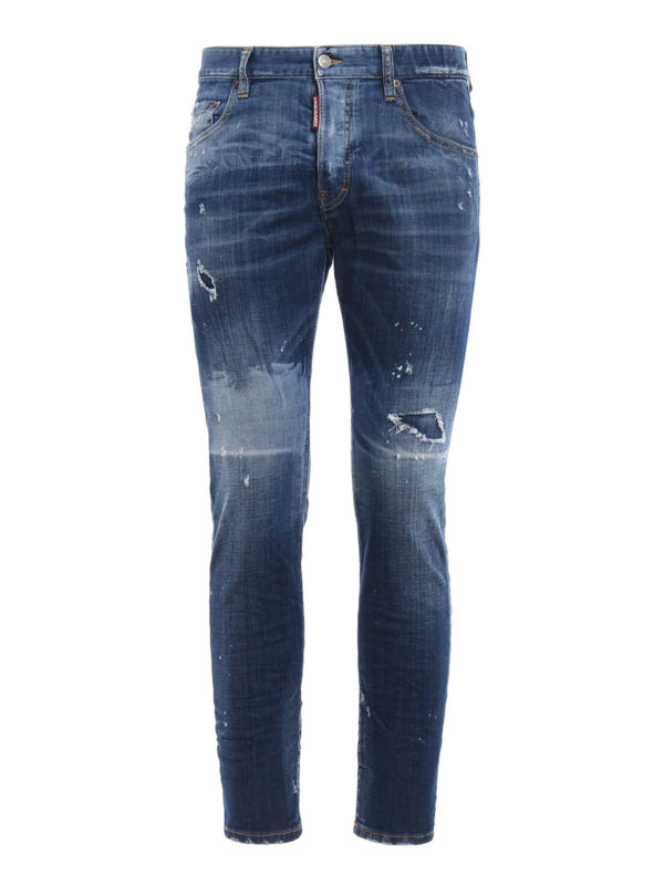 Dsquared2: Skinny Jeans - Skinny Jeans - Light Wash