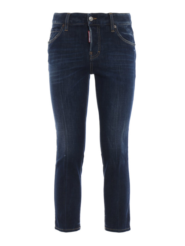 DSQUARED2: Straight Leg Jeans - Cool Girl - Dunkles Jeansblau