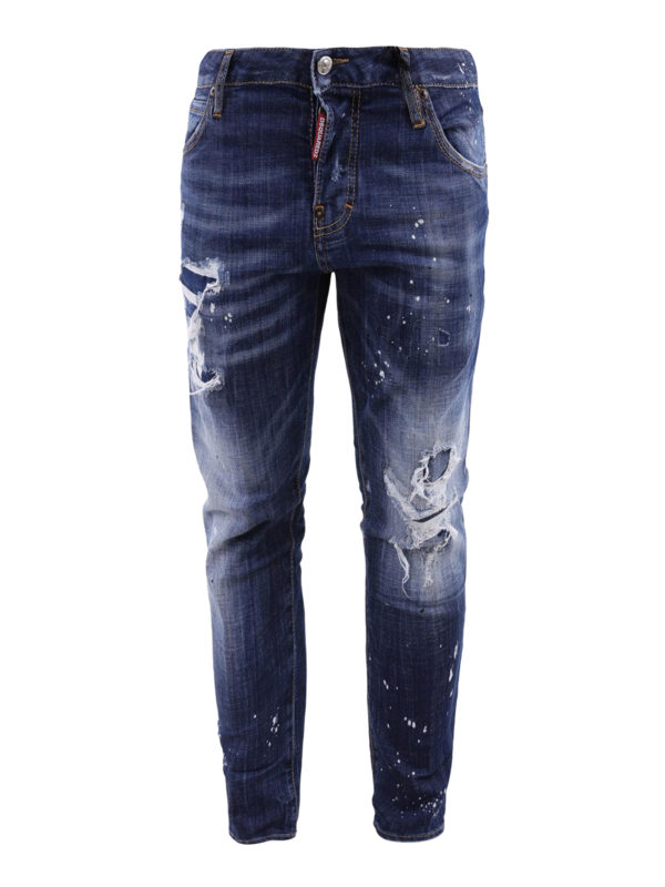 DSQUARED2: Straight Leg Jeans - Cool Girl Cropped